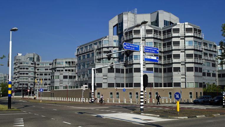 Exterieur van de Algemene Inlichtingen- en Veiligheidsdienst (AIVD) in Zoetermeer Beeld ANP