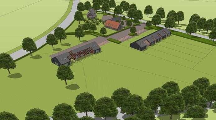 'Buitenplaats Ypelo' krijgt woningen met een 'landelijke uitstraling'  en passen daarom volgens makelaar Erik Baltes prima in dit stukje  buitengebied van de gemeente Wierden.