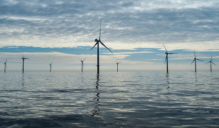 Windparken in zee: steeds goedkoper en in Duitsland straks zelfs zonder subsidie.  Beeld anp