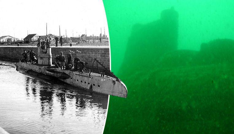 De Duitse duikboot uit de Eerste Wereldoorlog die voor de Belgische kust gevonden werd.