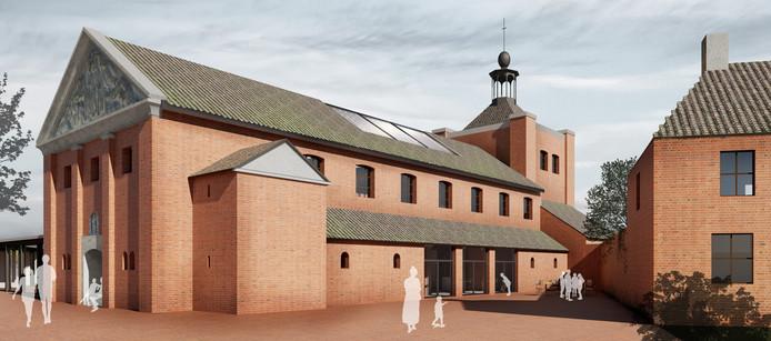 Een nieuwe zijdelingse entree maakt een meervoudig gebruik mogelijk, St. Lambertuskerk, Maren-Kessel.