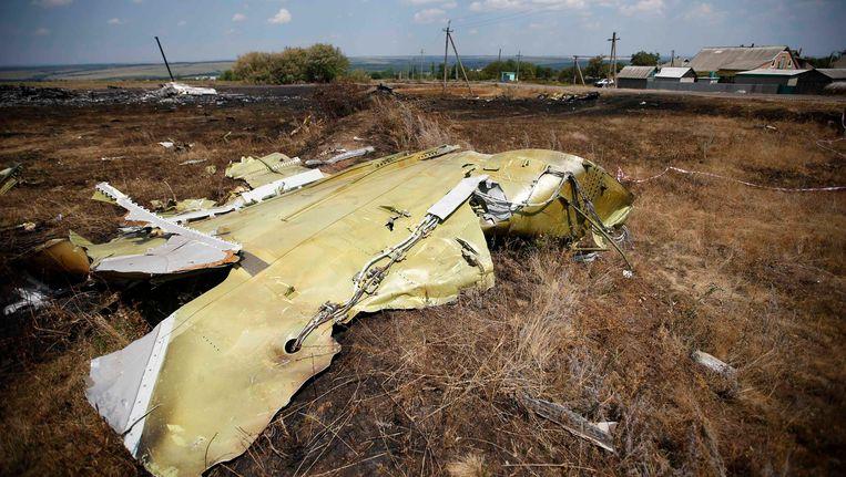 Een brokstok van vlucht MH17. Beeld REUTERS