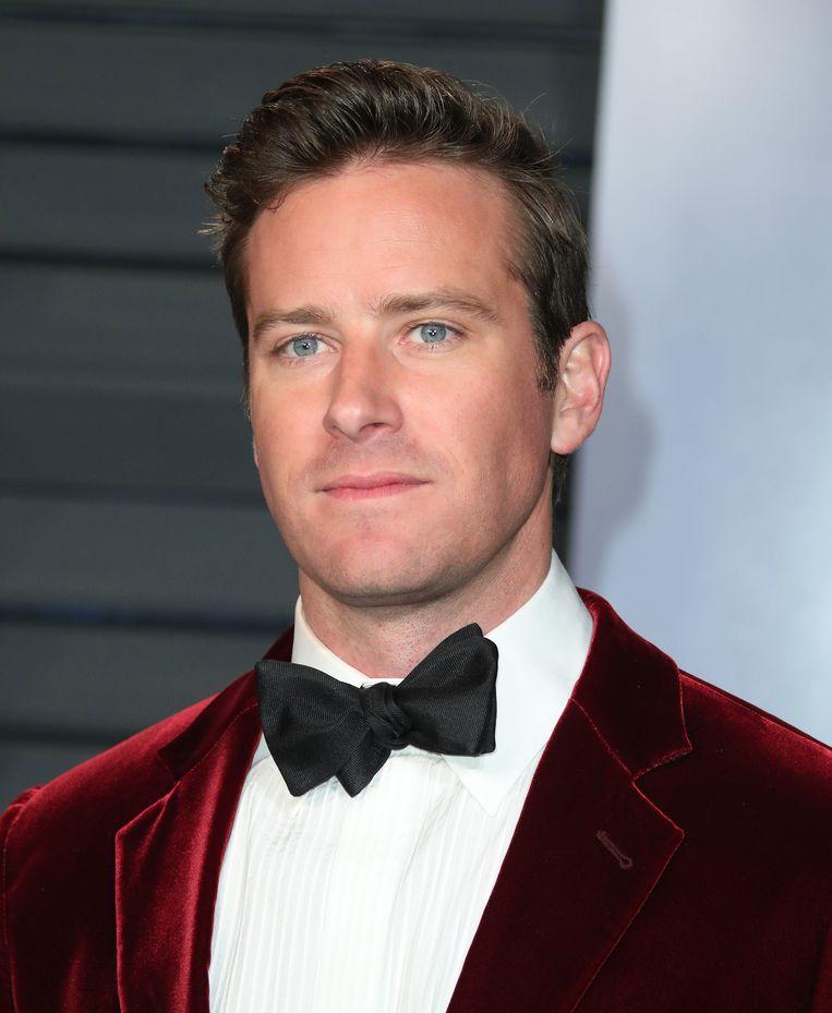 Armie Hammer op de rode loper bij de Oscars 2018.