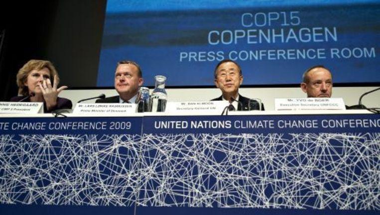 De VN-klimaattop in Kopenhagen zit muurvast. ANP Beeld