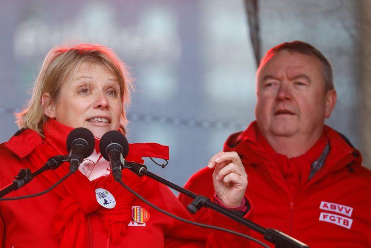 Algemeen secretaris Miranda Ulens naast voorzitter Robert Verteneuil.