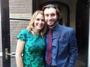 Schrijfster Heleen van Royen en haar vriend Bart Meeldijk
