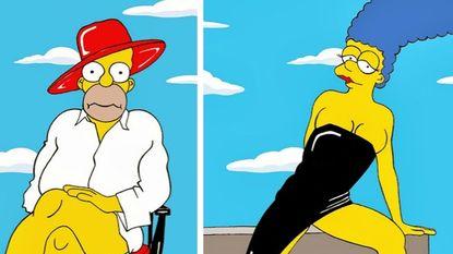 Zo zag u Homer en Marge nog nooit
