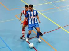 FC Eindhoven-spelers Pieter Grimmelius, Lahcen Bouyouzan en Oualid Saadouni in Oranje