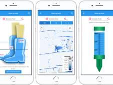 App laat zien wat in de eigen straat gebeurt bij extreme regenval
