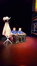 Pietertje & Henkie in hun rol als Statler & Waldorf uit de Muppet Show.