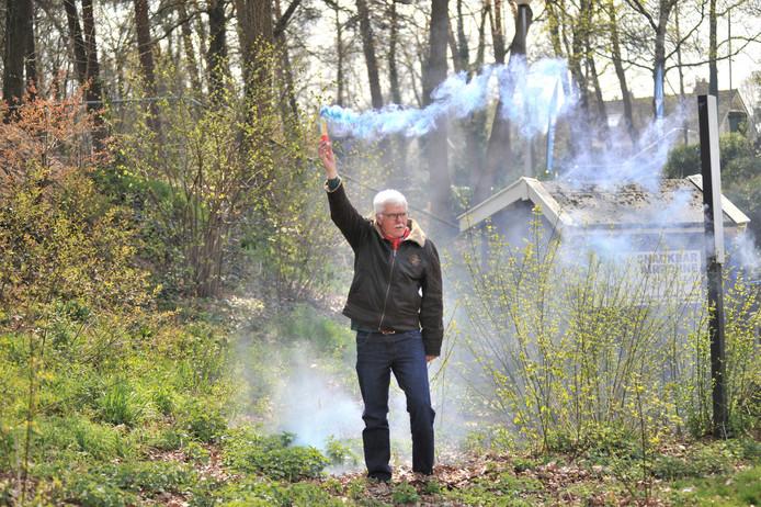 Cor van de Wiltenburgh dooft het vuurtje op het Wilhelmina sportpark.