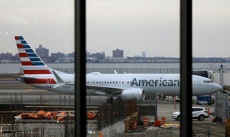 Een Boeing 737 Max van American Airlines. Beeld EPA