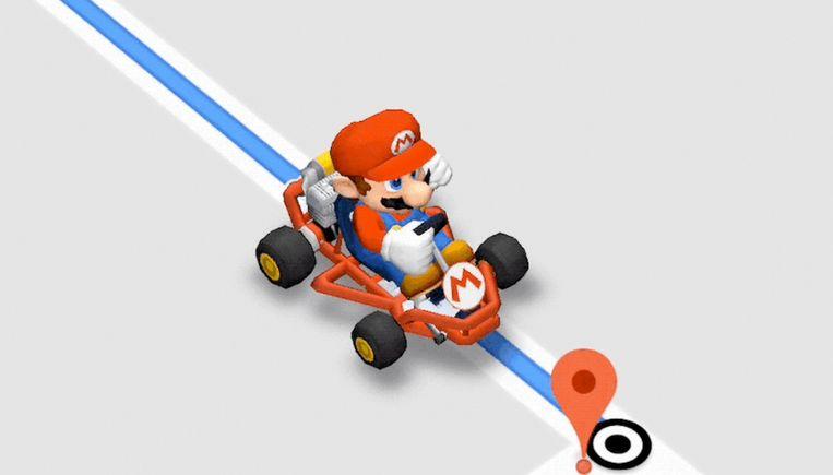 Mario en zijn skelter karten de routekaarten over