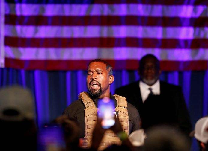 FILE PHOTO: Rapper Kanye West holds his first rally in support of his presidential bid in North Charleston, South Carolina, U.S. July 19, 2020.  REUTERS/Randall Hill/File Photo