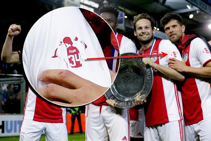 Ajax vierde in Doetinchem feest met een shirt dat een eerbetoon vormde aan Abdelhak Nouri.