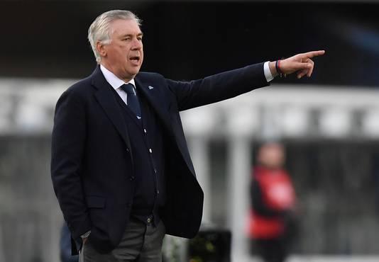 Trainer Carlo Ancelotti van Napoli.