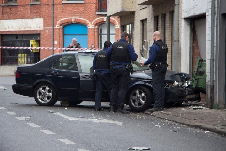 Het ongeval zorgde voor heel wat schade.