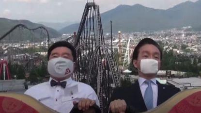 Schreeuwen verboden op Japanse rollercoasters door corona: bazen pretpark doen voor hoe het moet
