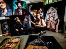 Kunstenares uit Haarle huisschilder bij Woodstock
