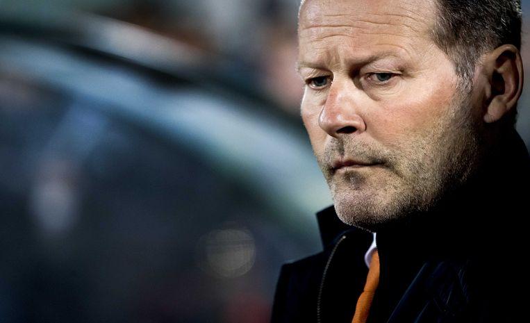 Bondscoach Danny Blind werd na de nederlaag in Sofia ontslagen. Beeld ANP