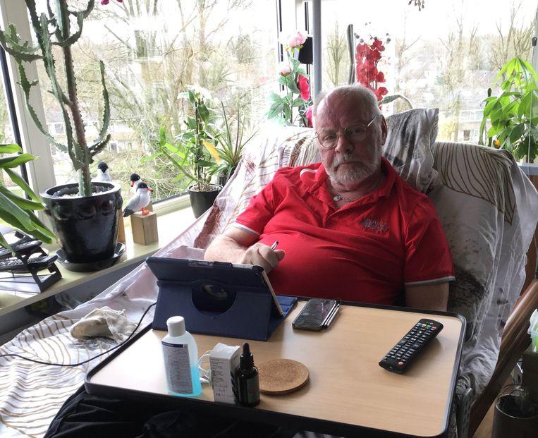 Hans Halmingh (70), die wacht op een hernia-operatie. Beeld null