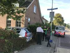 Auto belandt in voortuin van woning in Nieuw-Lekkerland