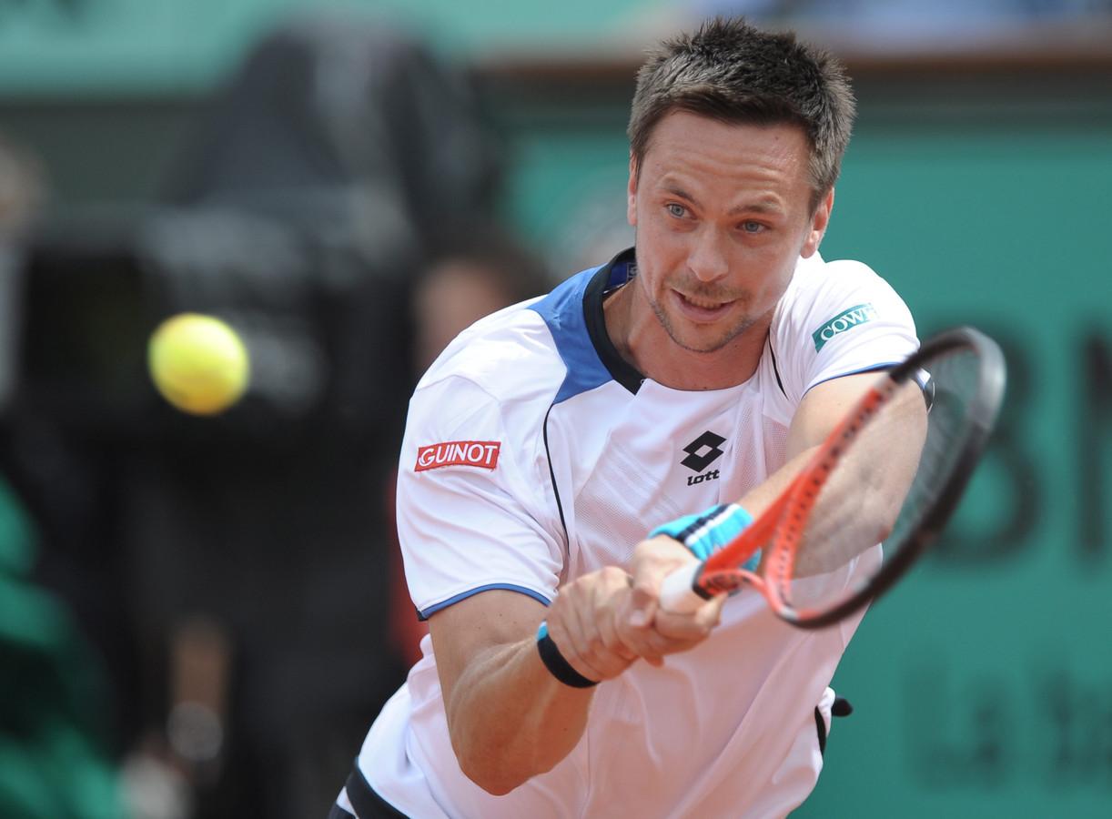 Robin Söderling tijdens de finale van Roland Garros in 2010. Hij verloor van Nadal, die hij een jaar eerder in de halve finales versloeg.