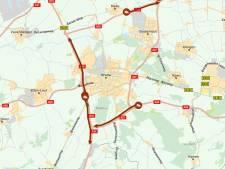 Ongelukken op A16 en A58 met vrachtwagens, verkeerschaos rond Breda en Tilburg