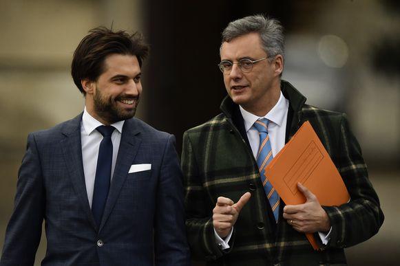 Informateurs Georges-Louis Bouchez (MR) en Joachim Coens (CD&V).