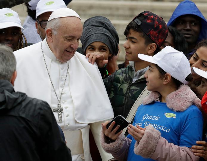 ... en een selfie met de paus.