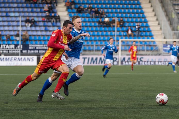 Junior van der Velden in actie