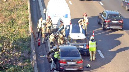 Ongeval op E17: Geen gewonden, veel hinder