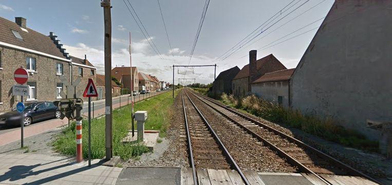 De spoorwegovergang in Lissewege
