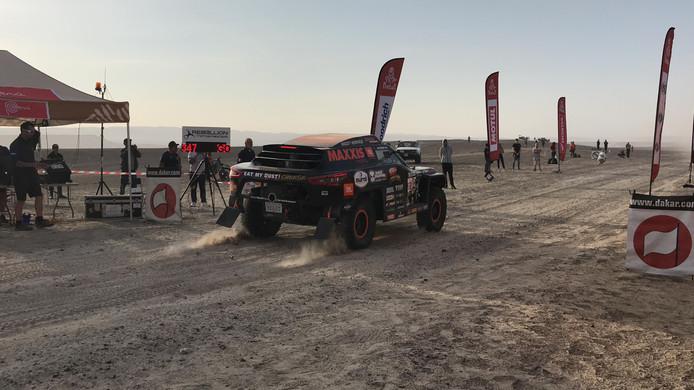 De auto van het team waarmee Stefan Mulder met de Dakar Rally 2019 meedoet: The Beast 2.0.