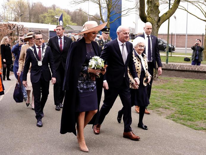 Koningin Máxima arriveert in Lieshout.
