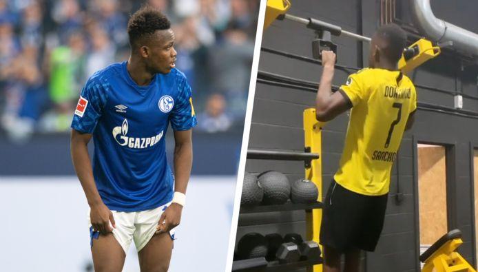 Rabbi Matondo trok in een Dortmund-shirt naar de fitness.