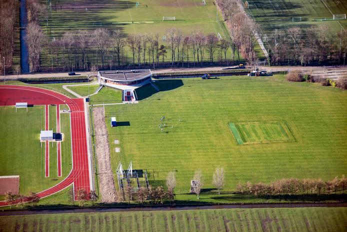 Het cricketveld van Voorburg CC aan de Groene Zoom in Den Haag.