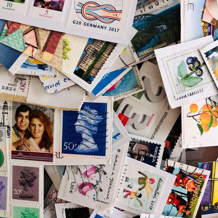 De postzegels. Beeld