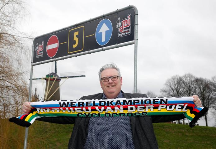 Wethouder Jean-Paul Hageman op het parkoers voor de Vestingcross.