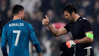 """Buffon: """"Ronaldo is een buitengewone speler die vergeleken kan worden met Maradona, Messi en Pelé"""""""