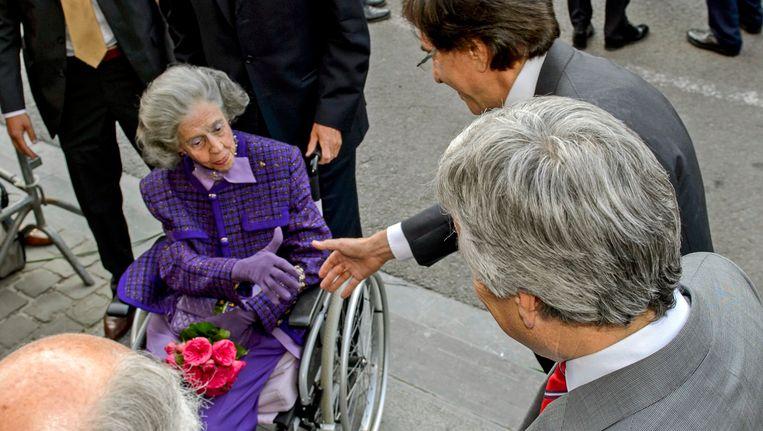 De voormalige premier Elio Di Rupo met koningin Fabiola.