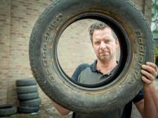 Garagebedrijf in Beneden-Leeuwen is gedumpte banden beu