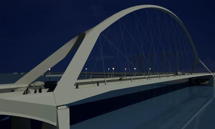 Lichtkunstwerk bij Waaloversteek | Nijmegen | gelderlander.nl