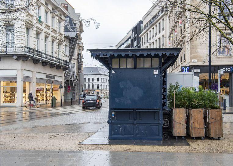 De Blauwe Kiosk op de Kouter.