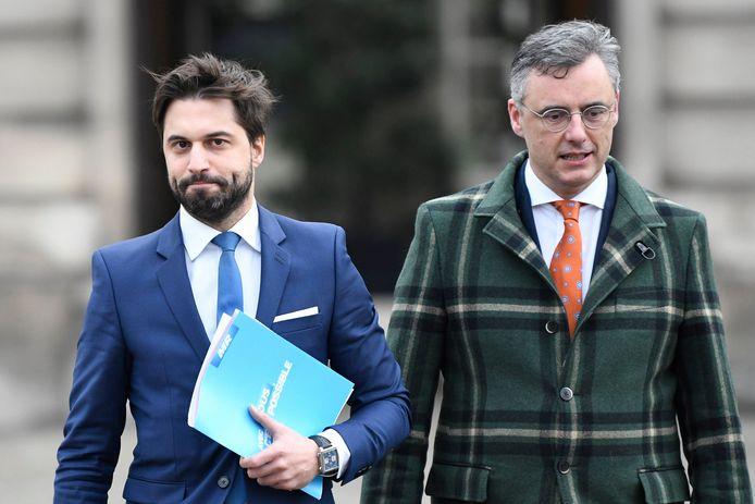 Georges-Louis Bouchez (MR) et Joachim Coens  (CD&V)