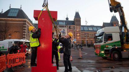 I amsterdam-letters binnen half uur verwijderd van Museumplein