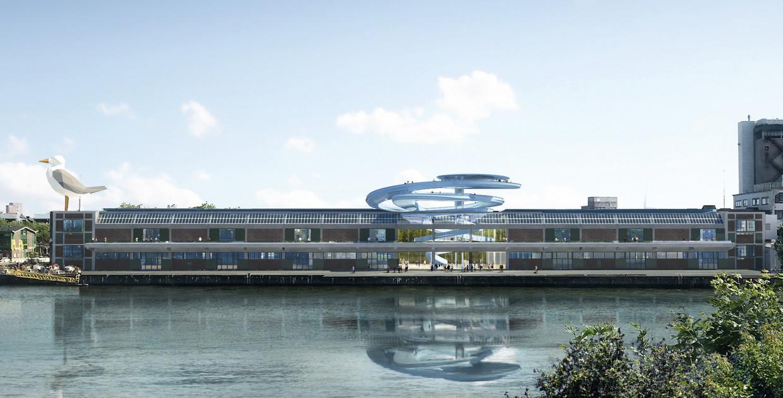 Een ontwerpschets van de Fenixloods II door MAD Architects.  Beeld