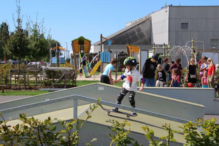 Kinderen kregen onder andere een skate initiatie.