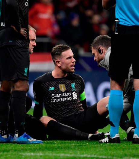Liverpool drie weken zonder geblesseerde aanvoerder Henderson