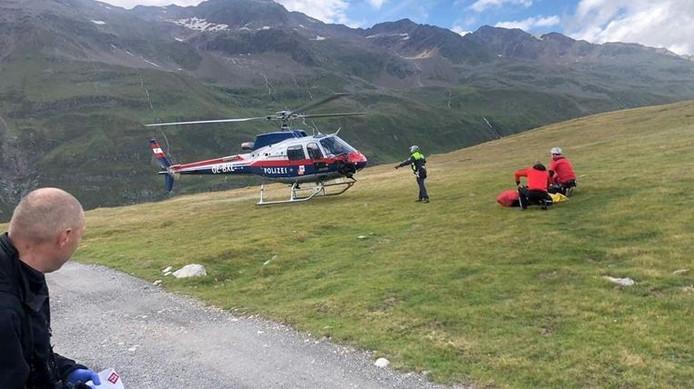 Le couple a été retrouvé à l'aide d'un hélicoptère